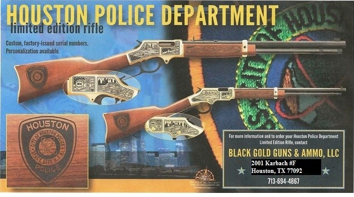Houston Police Department Limited Edition Rifle HPD Commemorative Rifle