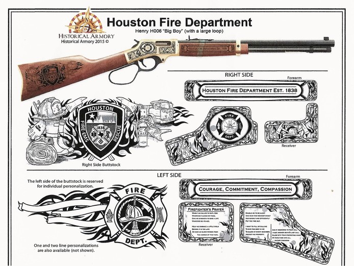 Houston Fire Department Commemorative Rifle at Black Gold Guns & Ammo